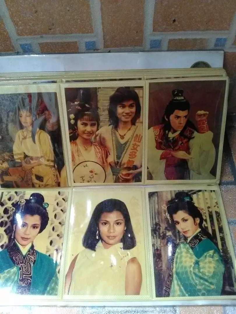 Kartu pos jadul artis Mandarin 1 album isi 72 lembar bagus