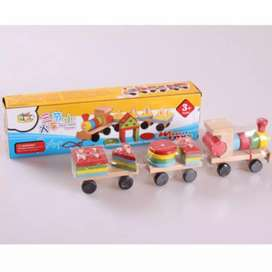 Mainan balok kayu anak