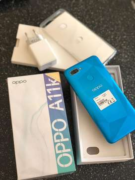 Oppo A11K biru fingerprint