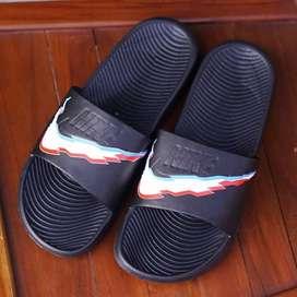 ORIGINAL Sandal Nike Bennasi White Black Blue Pria Wanita Slipper - 44
