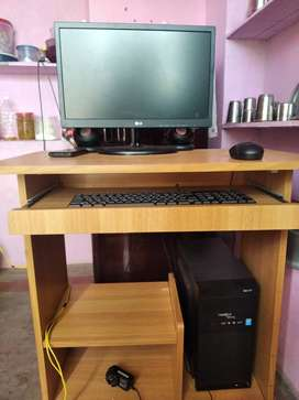 LG Computer.   With table