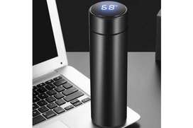 Flasks 500ml Vacuum Thermos LCD Temperature Display Water Bottle Stain