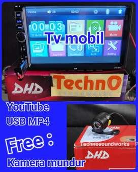 Paket double din Tv mobil usb 7 in avi + kamera led tape paket sound