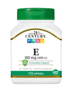 Century 21 Vitamin E 180mg 400 IU antioxidant 110 sofgels