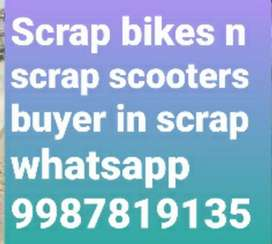 We buy old unused junk bikes and scooters in scrap