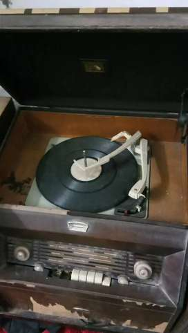 Antique Record Player with F. M.