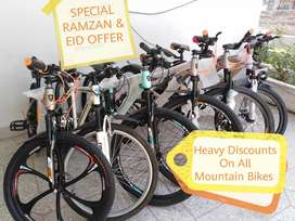 Special Ramzan and EID Heavy Discount Offer on Brand New MountainBikes