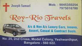 Cars for rent innova /taxi /cabs