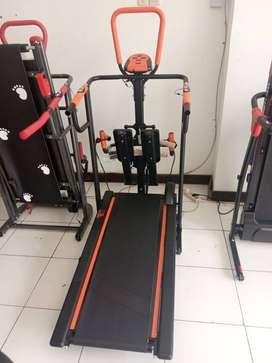 Alat fitness Treadmill manual 5 fungsi
