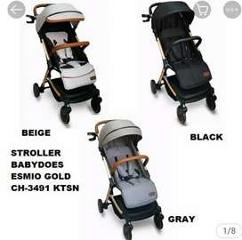 Stroller baby does esmio gold (model tarikan koper)