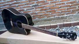 Gitar Akustik Elektrik Black Glosh