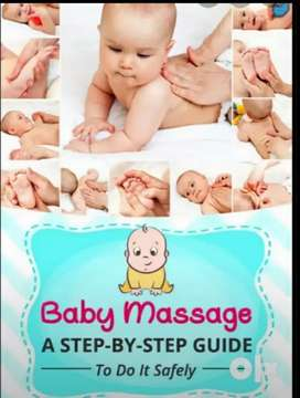 New born baby massage with Mom as well beautician