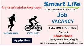 Job Vacancy for Cyclist & Sports Men