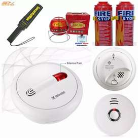 Wireless smoke detector , fire stopping spry fire extinguisher ball