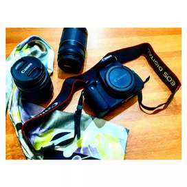 CANON DSLR EOS 700D CAMERA WITH 2 LENSES...
