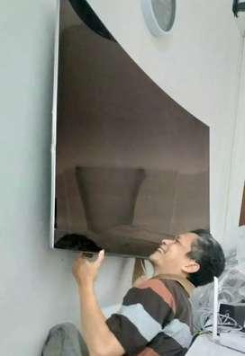 pemasangan jual bracket utk gantungan tv lcd led di tembok kuat nyaman