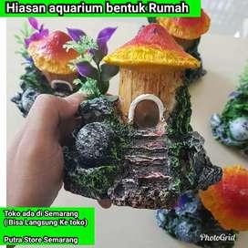Hiasan aquarium Bentuk Rumah