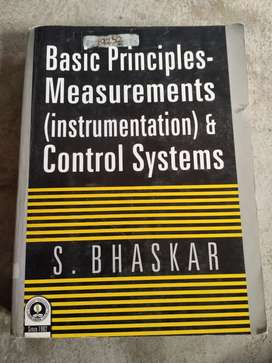 Instrumentation and control systems by S.Bhaskar