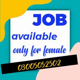 EXPERIENCED FEMALE FOR OFFICE ASSISTANT