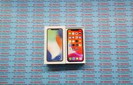 {Apple iPhone X 256GB Color Silver With Box And Charger}