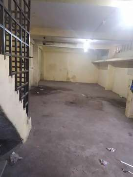 Basement main road hall area for rent good for stock house or godown