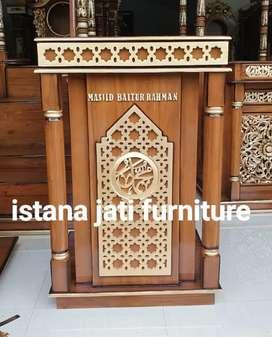 Mimbar masjid minimalis mimbar jati podium