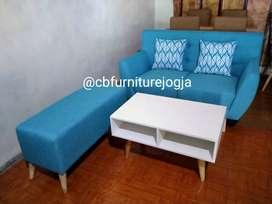 sofa tamu minimalis, mejja .