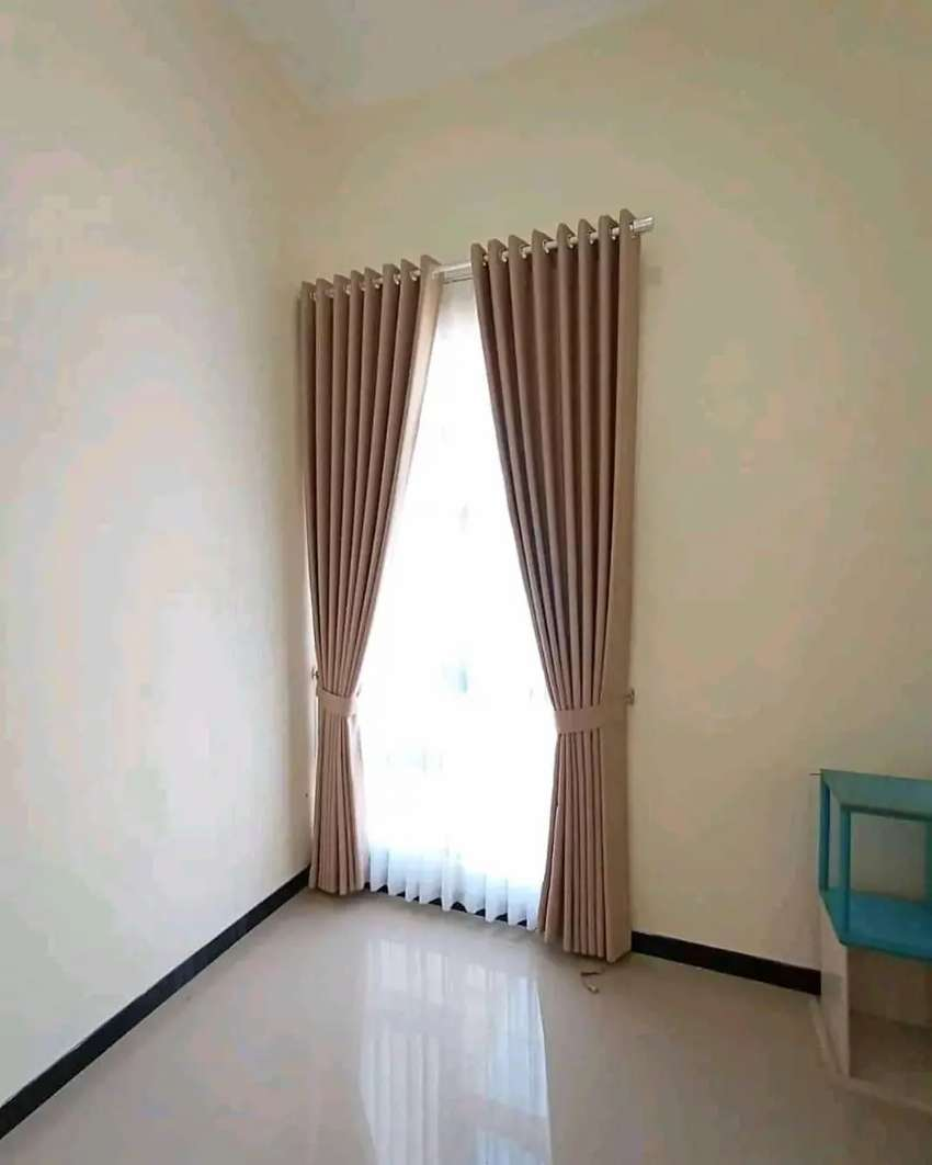 Gordyn hordeng gorden Curtains Tirai vertical polos paling kren