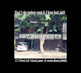 Dijual ruko gandeng +rumah di jl ry Kampung Gusti,JakUt