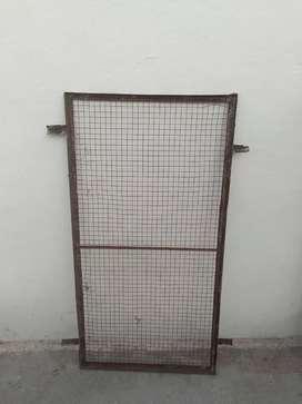 Door frame and grills