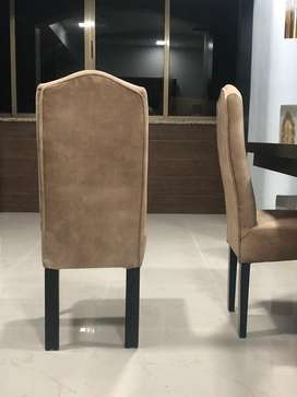 6 Dining table chairs and 1 bench
