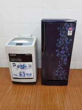 Samsung blue flower model refrigerator cgyH+Ji washing machine free