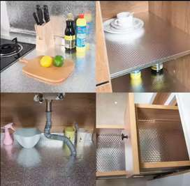 Aluminium Foil Roll Sticker Sheet Table Home Marble to Cabinet Kitchen