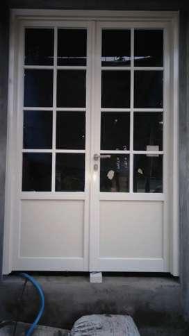 Pintu geser lipat aluminium