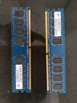 Two  1GB  Desktop RAM Memory