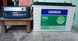Luminous Inverter(750 watt UPS + 150 Ah Tall Tublar Battera)
