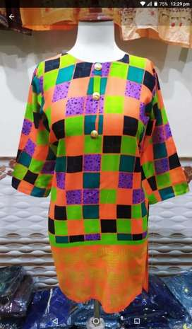 Ladies lawn kurti on wholesale