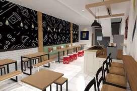 jasa desain dan produksi booth, cafe,interior, kitchenset, minimalis,