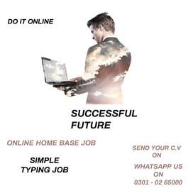 online by part time – data entry job for male & female