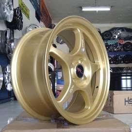 Velg Racing Ring 15 Tipe Sensei Hsr Warna Gold Untuk Karimun March Dll