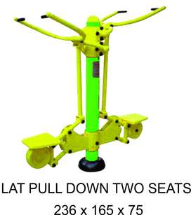 Lat Pull Down Two Seats Outdoor FItness Murah Garansi 1 Tahun
