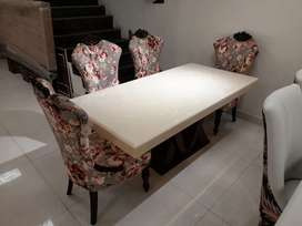 Brand New Imported Marble Dining Table with Chairs.