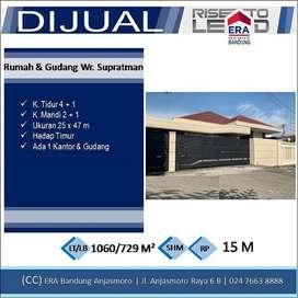 Dijual Rumah Gudang di WR Supratman