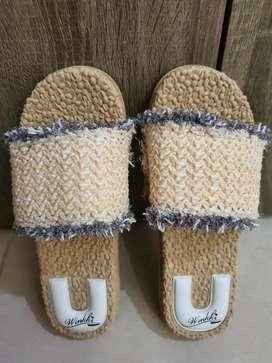 Preloved Sandal Slip Model Vintage Boho