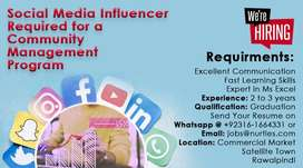 Female Social Media Influencer Required