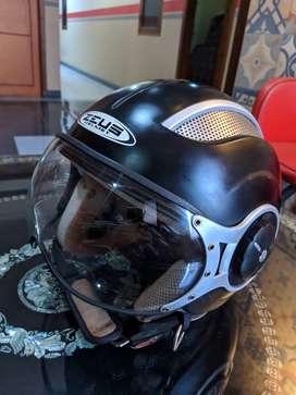 Helm Zeus 218 Retro Alumunium Half Face SizeM Black Mat Bandung Murmer