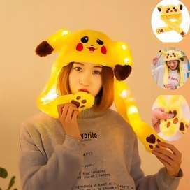 Topi Pikachu With LED - Topi Magic Dengan Lampu