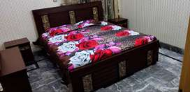 New Style Bed Set With Dressing Mirror And 2 Side Table
