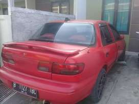 Jual mobil timor s515i dohc th 2000 warna merah