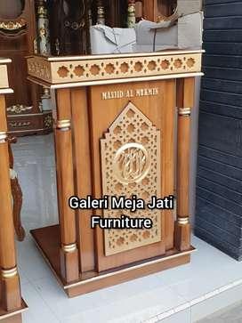 Mimbar masjid E209 kualitas kayu jati